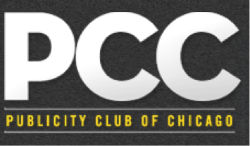 The Publicity Club of Chicago's former brand logo, which was redesigned by CBD Marketing as part of a pro bono project.