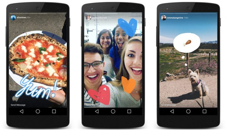 Instagram photos and videos shown on a smartphone. Instagram takeovers use visual content to attract new audiences.