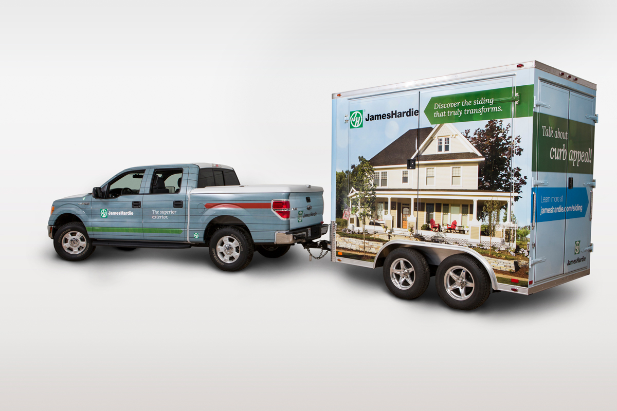 The James Hardie Mobile Showroom, developed by CBD Marketing as part of James Hardie's first consumer-facing brand.