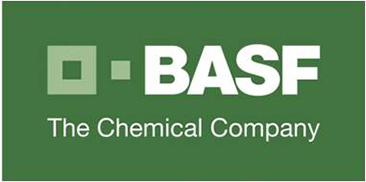 The BASF Corporation logo. BASF is a German chemical company and the largest chemical producer in the world.