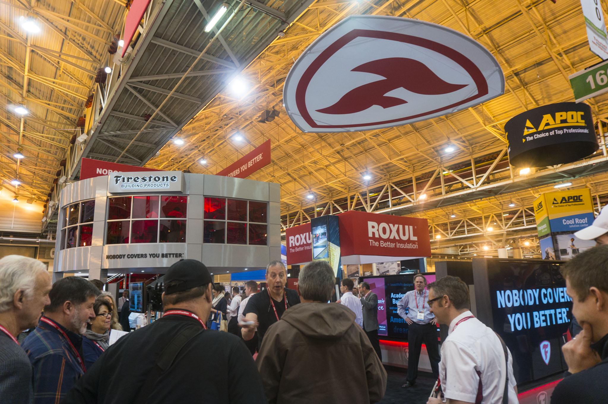 The Firestone Building Products interactive trade show booth used throughout many industry trade shows.