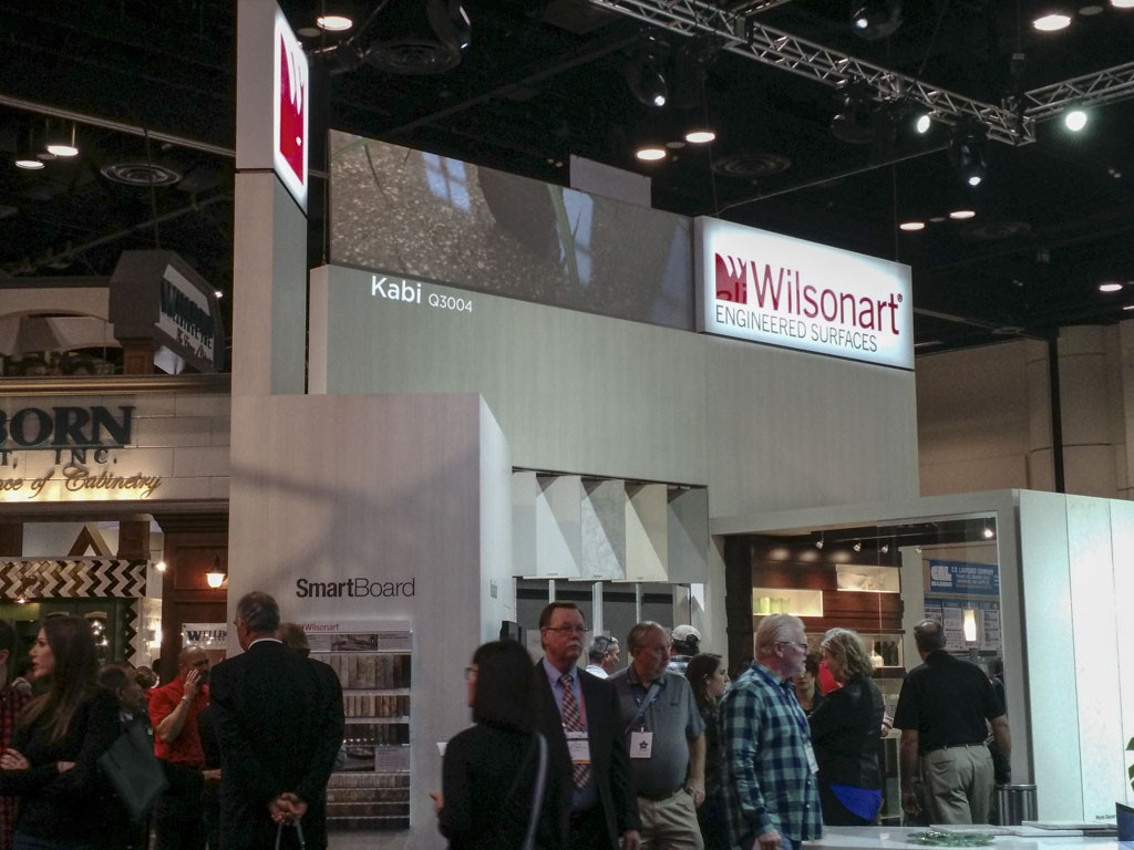 The Wilsonart booth at IBS/KBIS 2017. This B2B trade show is a popular event for home and building products brands.