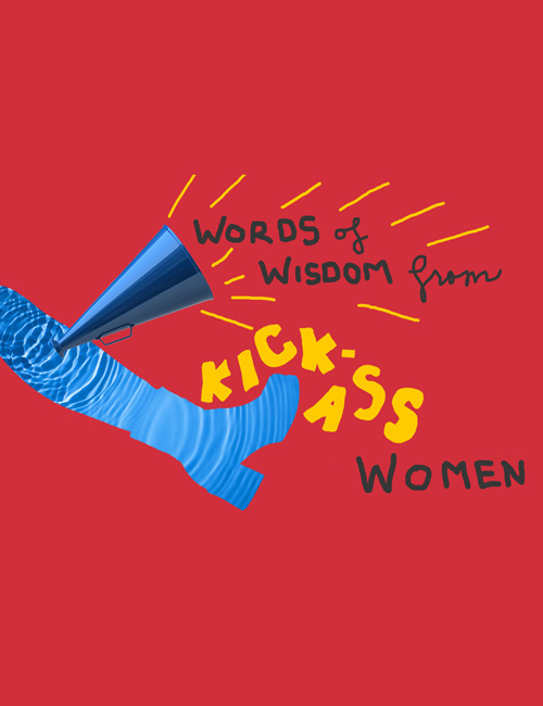 "The cover of CBD's ""Words of Wisdom from Kick-Ass Women Volume 1"" e-book, centered around inspirational women in business."