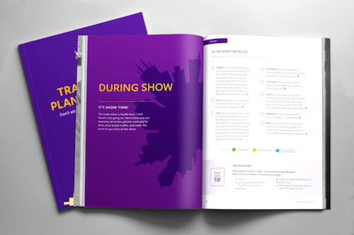 CBD Marketing's trade show planning guide, shown here, is full of important to-dos for B2B trade shows and events.