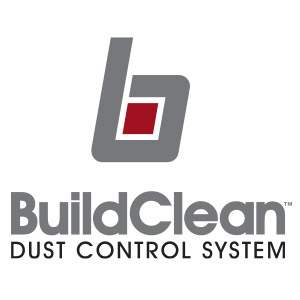 The ITW BuildClean logo. BuildClean is a dust control management system that eliminates up to 90% of airborne jobsite dust.