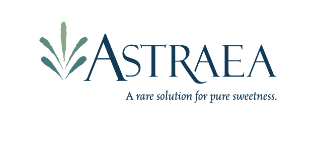 "The Astraea logo and tagline which reads: ""A rare solution for pure sweetness."" Astraea is a rare sugar sweetener by Matsutani."