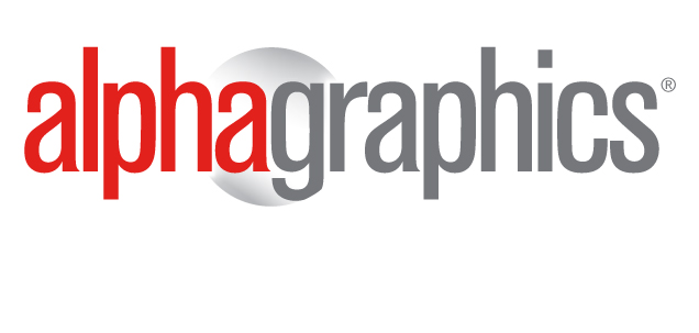 The Alphagraphics logo. AlphaGraphics is an international franchisor that offers printing services, marketing solutions and more.