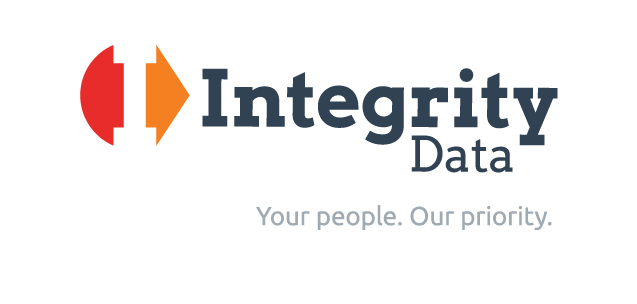 "The Integrity Data logo and tagline, which reads: ""Your people. Our priority."""