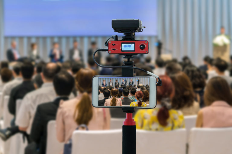 Live streaming via social media, shown here, is a rising digital marketing trend in 2018.