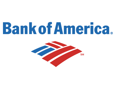 The logo for Bank of America, a financial services institution.