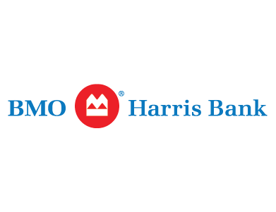 The logo for BMO Harris Bank, a financial services institution.