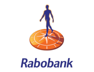 The logo for Rabobank, a financial services institution.