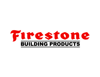 The Firestone Building Products logo is shown here.