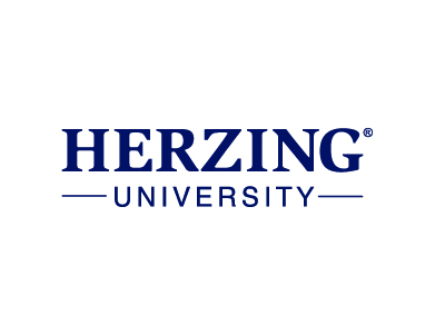 The logo for Herzing University, a higher education institution.