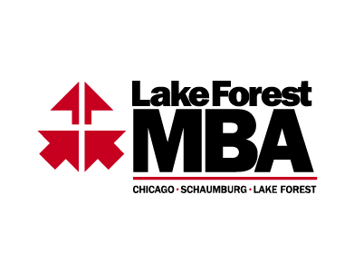 The logo for Lake Forest College's MBA Program offered in Schaumburg, IL. Lake Forest College is a higher education institution.