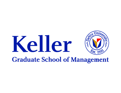 The logo for DeVry University's Keller Graduate School of Management, a higher education institution.
