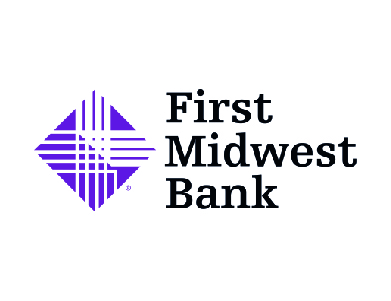 The logo for First Midwest Bank, a financial services institution.