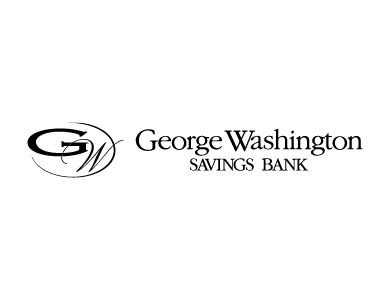 The logo for George Washington Savings Bank, a financial services institution.