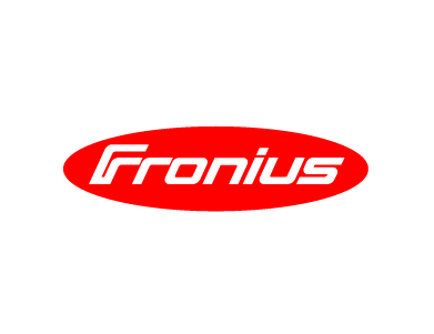 The logo for Fronius International, a manufacturing company.