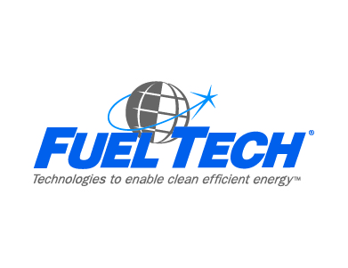 """The logo for Fuel Tech, with a tagline that reads, """"Technologies to enable clean efficient energy."""""""
