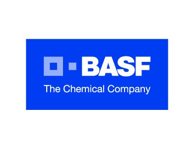 The logo for BASF, a chemical manufacturing company.