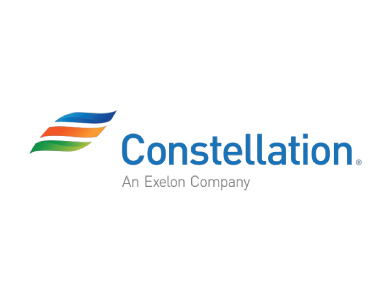 The logo for Constellation, an energy company owned by Exelon Corporation.