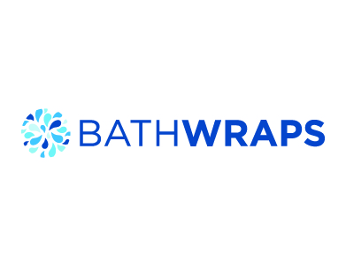 The logo for BathWraps, a home products company.
