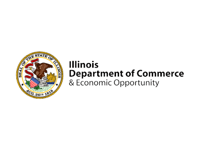 The logo for the Illinois Department of Commerce and Economic Opportunity, a government-affiliated professional services organization.