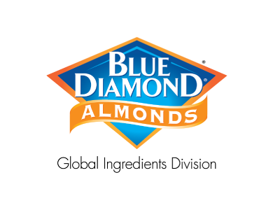 The logo for Blue Diamond Global Ingredients Division, a food ingredients company that specializes in almond-based products.