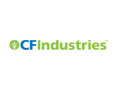 The logo for CF Industries, a manufacturing company.