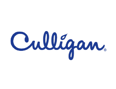 The logo for Culligan, an American water treatment company that specializes in office and home products.