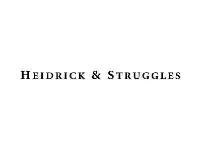 The logo for Heidrick and Struggles, a professional services organization.