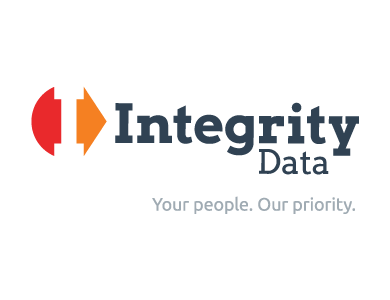 "The logo for Integrity Data, a technology company. The tagline reads: ""Your people. Our priority."""