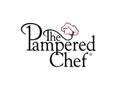 The logo for The Pampered Chef, Ltd., a multinational multi-level marketing company that offers a line of kitchen tools, food products, and cookbooks for preparing food in the home.