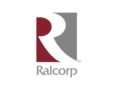 The logo for Ralcorp Holdings, a manufacturer of various food products, including breakfast cereal, cookies, crackers, chocolate, snack foods, mayonnaise, pasta and peanut butter.