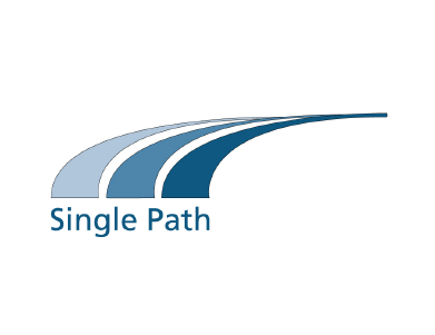 The logo for Single Path, a technology company.