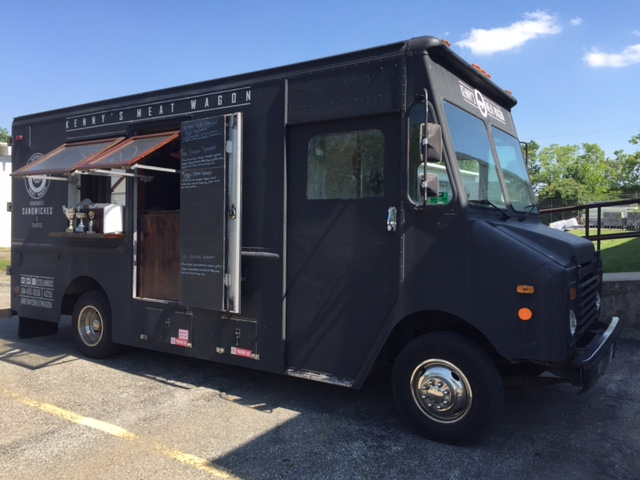 """Food trucks, like the one shown here, provide great """"out-of-the-box"""" catering options for demo events."""